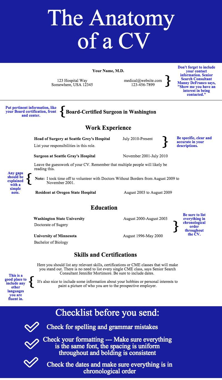 The Anatomy Of A Cv Enterprise Medical Recruiting